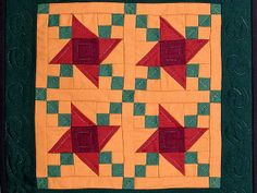 Amish Quilts | Friendship Stars Quilt -- marvelous cleverly made Amish Quilts from ...