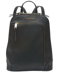 f5f329a4822 Calvin Klein Hudson Saffiano Leather Backpack - Handbags  amp  Accessories  - Macy s Handbag Accessories,