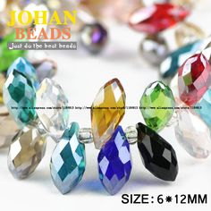 Briolette Pendant Waterdrop Austrian crystal beads 6*12mm 50pcs Top quality Teardrop glass beads for jewelry making bracelet DIY-in Beads from Jewelry & Accessories on Aliexpress.com | Alibaba Group