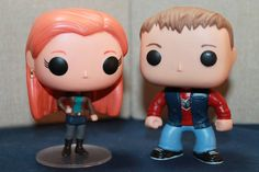 Custom Funko Pop! Figures of Doctor Who's Amy Pond and Rory Williams