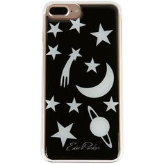 Edie Parker Women's Celestial Glow-In-The-Dark iPhone 6 or 7 Plus Case ($55) ❤ liked on Polyvore featuring accessories, tech accessories, black and edie parker