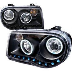 Spec-D 3LHP-300C05JM-KS   2007 Chrysler 300 Black CCFL Halo Headlights for Sedan