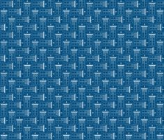Tardis blueprint tesselation fabric by risarocksit on Spoonflower - custom fabric