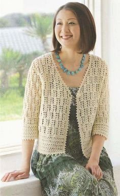 beautiful lace bolero, free crochet patterns in its pages, you'll find fabulous crochet patterns and helpful articles that support its. lace bolero is beautiful Gilet Crochet, Crochet Gratis, Crochet Coat, Crochet Cardigan Pattern, Crochet Tunic, Crochet Jacket, Crochet Clothes, Free Crochet, Crochet Patterns
