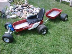 Radio Flyer Wagon - Custom Built Pull Wagon & Trailer