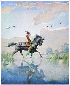 "Wyeth Illustration from ""The Black Arrow,"" by Robert Louis Stevenson (1916)"