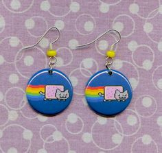 Nyan Cat earrings (i want some)