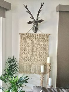 Large Macrame Bohemian Style Wall Hanging - SECONDS