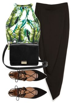 A fashion look from April 2016 featuring palm tree crop top, cross over skirt and suede lace up flats. Browse and shop related looks. Strappy Flats, Lace Up Flats, Cool Outfits, Summer Outfits, Ready To Wear, Zara, Fashion Looks, Style Inspiration, Closet Ideas