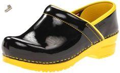 Sanita Women's Professional Xenia Patent Clog,Yellow,36 EU/5.5-6 M US - Sanita mules and clogs for women (*Amazon Partner-Link)