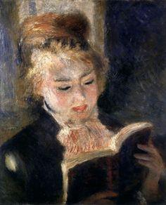 Pierre-Auguste Renoir, Girl Reading, c. 1874, oil on canvas, 18 1/8 x 15 inches, Musée d'Orsay, Paris.