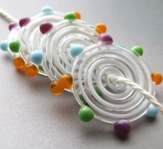 whimsical lampwork beads
