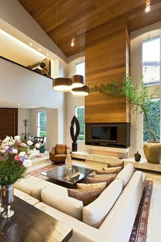 Living room spaces that are designed with style #livingroom #design