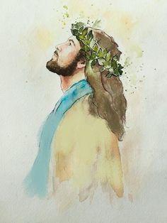 Paintings Of Christ, Jesus Christ Painting, Jesus Art, Jesus Christ Drawing, Pictures Of Christ, Christian Wallpaper, Prophetic Art, Catholic Art, Bible Art