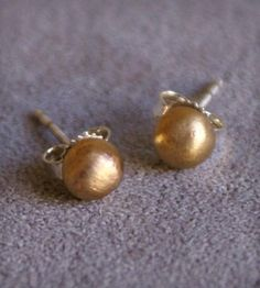 Brass Round Stud Earrings by K. Hansen on Scoutmob Shoppe