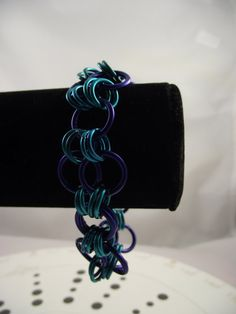 Blue Chainmaille Bracelet. $18.00, via Etsy.