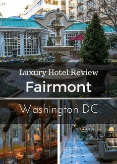 The Fairmont Washington DC offers a peaceful retreat in the nation's capital.