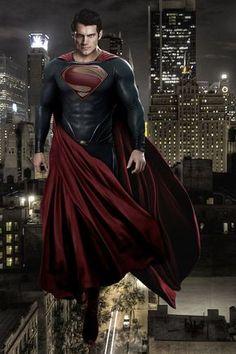 Superman Black Suit, Superman Man Of Steel, Superman Artwork, Superman Wallpaper, Superman Pictures, Superman Drawing, Superhero Images, Mundo Superman, Batman Vs Superman