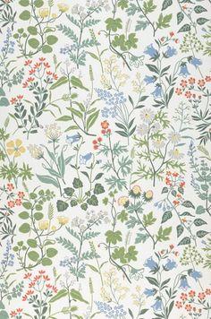 Flora by Boråstapeter - White - Wallpaper : Wallpaper Direct More Wallpaper, White Wallpaper, Wallpaper Panels, Wallpaper Online, Wall Wallpaper, Bleu Pastel, Botanical Wallpaper, Botanical Decor, Surface Pattern