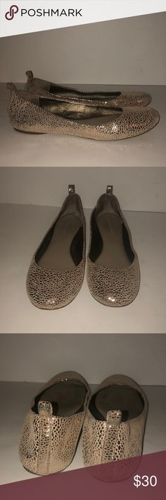 Banana Republic metallic flats 7 These are a gently used pair of Banana Republic metallic flats size 7. Cute! Thank you for looking! Banana Republic Shoes Flats & Loafers