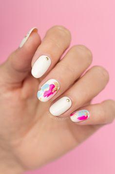Gold foil + studded nails