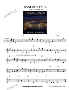 "TODO TECLADOS: ""DANUBIO AZUL"" JOHANN STRAUSS Learning Music, Kalimba, Piano Man, Mikasa, Sheet Music, Latin Music, Violin, Free Sheet Music, Music Instruments"