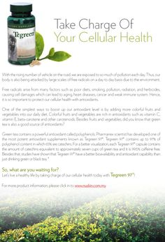 Green tea is a good source for antioxidant. Nu Skin's Tegreen is caffein free! Green Tea Tablets, Mobile Beauty Therapist, Green Tea Capsules, Galvanic Spa, Amazing Greens, Nu Skin, Anti Aging, How Are You Feeling, Skin Care