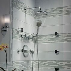 I like the way there is the overhead shower and the handheld is more in the corner. American Standard Berwick Diverter Shower Faucet Trim Kit with Lever Handle Grey Modern Bathrooms, Master Bathroom Shower, Bathroom Ideas, Toilet Storage, American Standard, Shower Faucet, Bathroom Fixtures, Shower Heads, Door Handles