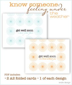 Vale Design free printable get well soon cards