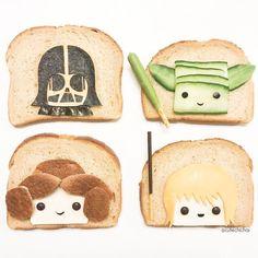 Star Wars toast art by m i c h a e l a (@cutechichai)   https://lomejordelaweb.es/