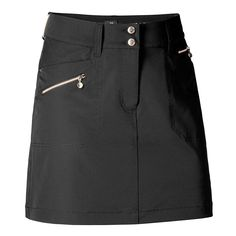 "Check out what Loris Golf Shoppe has for your days on and off the golf course! Daily Sports Ladies LimitedEdition Miracle 17¾"" ZipFront Golf Skorts - GOLD EDITION (Black or Straw"