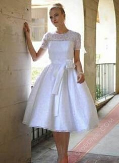 searching for the perfect tea length wedding dress