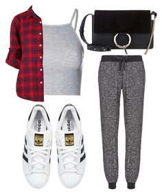 """Untitled #2242"" by fiirework ❤ liked on Polyvore featuring moda, Chloé, Sweaty Betty, Glamorous y adidas Originals"