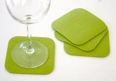 Coasters Felt Coasters in 3MM Thick Virgin Merino by feltplanet, $12.00