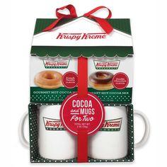 Krispy Kreme Ceramic Mug and Hot Cocoa Gift Set #KrispyKreme