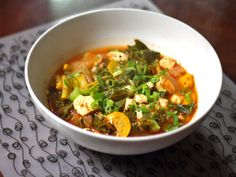 Squash, Shiitake, Kale, and Kimchi Stew - would require a trip to an Asian Specialty store, for sure!