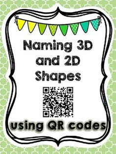 This 7 page freebie is the perfect activity to kick start your geometry unit. This geometry math center includes 12 cards with and shapes and an QR code. This center will help your students identify the names of and shapes using QR codes for Preschool Math, Math Classroom, Kindergarten Math, Fun Math, Teaching Math, Classroom Freebies, Classroom Design, Math Stations, Math Centers