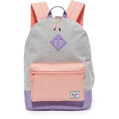 Herschel Supply Co. Heritage Youth Backpack (179.490 COP) ❤ liked on Polyvore featuring bags, backpacks, rucksack bags, block backpack, colorblock bags, color block bag and herschel supply co bag