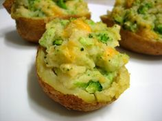 broccoli cheddar twice-baked potatoes... incredibly easy, with ingredients you probably already have. :)