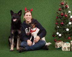 Tyka, Szotyi and my daughter at Christmas.