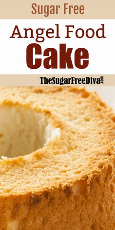Sugar Free Angel Food Cake YUM - THE SUGAR FREE DIVA - This dessert recipe is really perfect for any celebration or time of the year. I like that a cake l - Delicious Cake Recipes, Easy Cake Recipes, Cupcake Recipes, Yummy Cakes, Dessert Recipes, Yummy Yummy, Diabetic Desserts, Diabetic Recipes, Easy Desserts