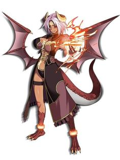 Discover recipes, home ideas, style inspiration and other ideas to try. Fantasy Character Design, Character Concept, Character Art, Thicc Anime, Anime Furry, Chica Fantasy, Fantasy Girl, Humanoid Dragon, Female Monster