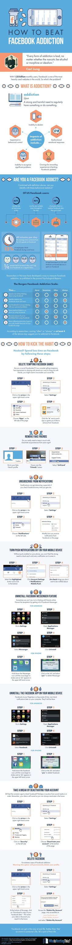 Infographic: How to Beat Facebook Addiction