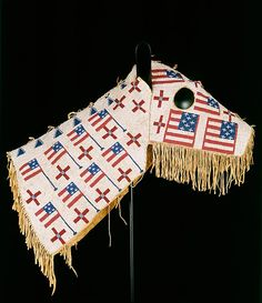 """centuriespast: """"Horse Mask Date: ca. 1900 Geography: United States, North or South Dakota Culture: Lakota (Teton Sioux) Medium: Native-tanned leather, glass beads Fenimore Art Museum, """""""