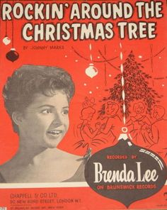 "''Rockin' Around the Christmas Tree"" - recorded by 13 year old Brenda Lee in Brenda with a fan! Christmas Albums, Merry Christmas To All, Christmas Music, Retro Christmas, Christmas Holidays, Christmas Specials, Cosy Christmas, Christmas Stars, Christmas Feeling"