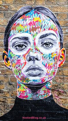 A series of beautiful street art portraits painted by London street artist AntCarver and installed on the streets of Shoreditch. #streetart #murals #Hookedblog Street Art Banksy, Murals Street Art, Mural Art, Street Wall Art, Urban Graffiti, Graffiti Murals, Banksy Artwork, Urban Street Art, Best Street Art
