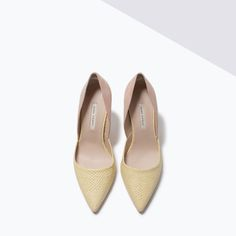 ZARA - SHOES & BAGS - COMBINED LEATHER ASYMMETRIC COURT SHOES