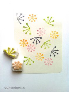 botanical rubber stamp hand carved by talktothesun. new mini rubber stamps. available at www.talktothesun.etsy.com
