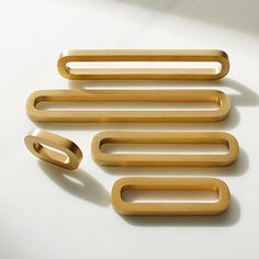 Link Knob and Handles Brushed Brass |