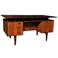Cantilevered Rosewood Desk